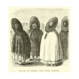 Monks of Cuzco, the Four Orders Giclee Print by Édouard Riou