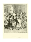 Don Quixote Dancing Giclee Print by Sir John Gilbert