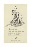 The Letter A Giclee Print by Edward Lear