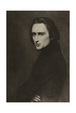 Franz Liszt, Hungarian Composer Giclee Print by Ary Scheffer