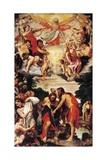 Kristi dåb Giclée-tryk af Annibale Carracci