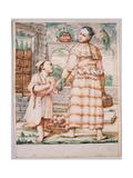 Cacasenno Con La Madre Meneghina Giclee Print by Giuseppe Maria Crespi