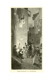 Broccoli-Sellers in Trastevere Giclee Print