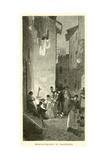 Broccoli-Sellers in Trastevere Giclee Print