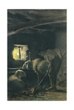 In Stable, 1883-1886 Giclee Print by Giovanni Segantini