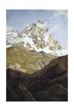 View of Matterhorn Giclee Print by Lorenzo Delleani