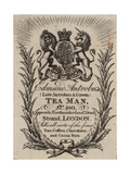 Tea Man, Edmund Antrobus, Trade Card Giclee Print