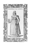 Donzella De Marito, 1590 Giclée-Druck von Cesare Vecellio