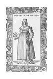 Donzella De Marito, 1590 Giclee Print by Cesare Vecellio