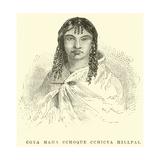 Coya Mama Cchoque Cchicya Hillpai Giclee Print by Édouard Riou
