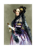Portrait of Augusta Ada King Giclee Print by Alfred-edward Chalon