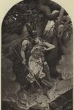 Wotan's Farewell to Brunhild Photographic Print by Konrad Dielitz