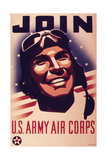 Join U.S. Army Air Corps, 1943 Giclee Print
