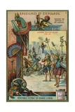 Ancient Egyptian Warriors Saluting their King Giclee Print