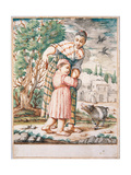 Cacasenno Is Quieted with a Chestnut Cake Giclee Print by Giuseppe Maria Crespi