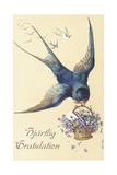 Swedish Greetings Card Giclee Print