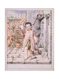 Bertoldino Cuts Donkey Ears Giclee Print by Giuseppe Maria Crespi