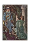 The Unfortunate Countess Dropped on Her Knees Giclee Print by Henry Justice Ford