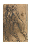 The Shades Approaching Dante and Virgil Giclee Print by Auguste Rodin