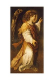 Announcing Angel Giclée-tryk af Annibale Carracci