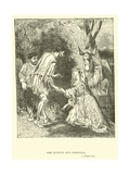 Don Quixote and Dorothea Giclee Print by Sir John Gilbert