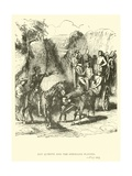 Don Quixote and the Strolling Players Giclee Print by Sir John Gilbert