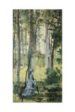 Vallospoli, Woman in Woods Giclee Print by Giovanni Fattori