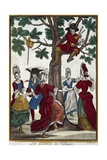 Village Dance, Engraving Giclee Print by Nicolas Arnoult
