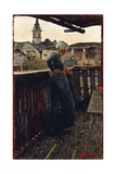 On Balcony, 1892 Giclee Print by Giovanni Segantini