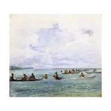 A Fishing Party, Samoa, 1890 Giclee Print by John La Farge
