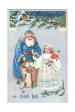 Swedish Christmas Card Giclee Print