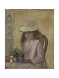 Portrait of the Artist's Daughter, 1872 Reproduction procédé giclée par Camille Pissarro