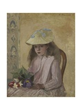 Portrait of the Artist's Daughter, 1872 Giclee Print by Camille Pissarro
