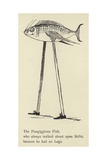 The Fizzgiggious Fish Giclee Print by Edward Lear