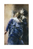 The Curious Ladies Giclee Print by Tranquillo Cremona