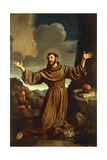 St. Francis of Assisi Receiving the Stigmata Giclee Print