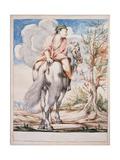 Cacasenno Rides a Horse Backwards Giclee Print by Giuseppe Maria Crespi