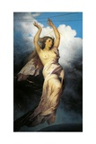 Allegory of Telegraph, 1878 Giclee Print by Antonio Zona