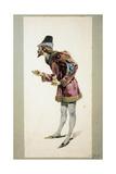 Costume Sketch Giclee Print by Adolf Hohenstein