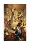 Glory of St Ignatius, 1721 Giclée-tryk af Antonio Balestra