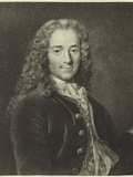 Voltaire Photographic Print by Nicholas De Largilliere