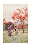 Peach Blossom Giclee Print by Ella Du Cane