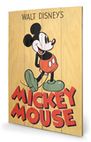 Mickey Mouse - Mickey Wood Sign Treskilt