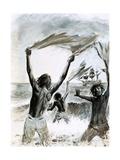 Castaways on Asuncion Island Giclee Print by Graham Coton