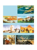 Scenes from the History of the River Nile Giclee Print by Ferdinando Tacconi