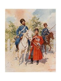 Cossacks of the Guard and Imperial Bodyguard Giclee Print by Frederic De Haenen