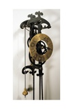 Clock with Pendulum Designed Giclee Print by Galileo Galilei