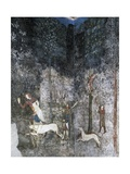 Hunting Scene, Fresco by Matteo Giovannetti Giclee Print