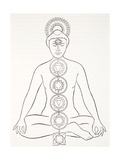 Padmasana or Lotus Position Giclee Print