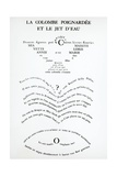 Pages from Caligrammes Giclee Print by Guillaume Apollinaire